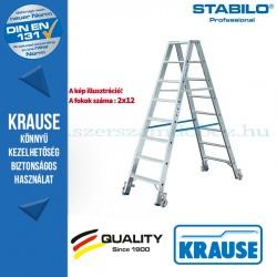 Krause Stabilo Professional lépcsőfokos két oldalon járható létra, gurítható 2x12 fokos
