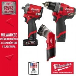 "Milwaukee Akkus M12 FUEL RED POWER PACK Erőcsomag (Fúró-csavarbehajtó FPD+ütvecsavarozó FIWF12 1/2"") 12V"