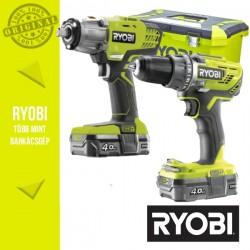 """Ryobi Power Pack 18V Akkus szett (Ütvefúró-csavarbehajtó +ütvecsavarozó 1/2"""")"""