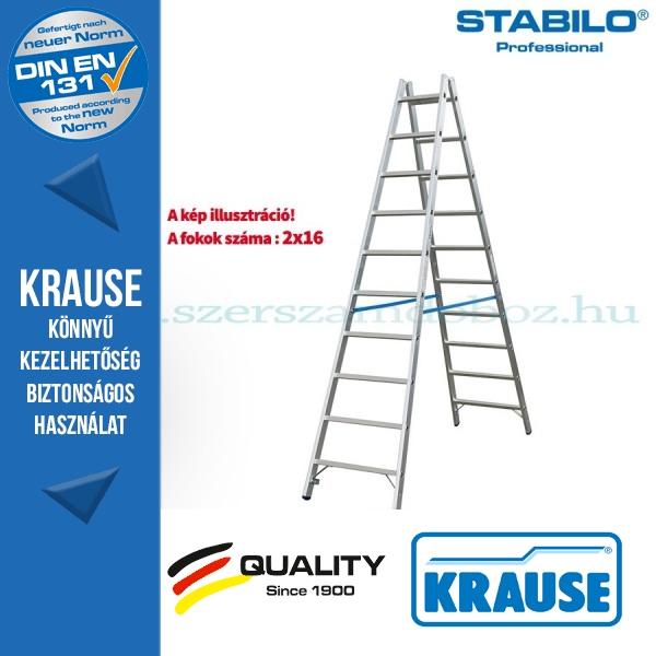 Krause Stabilo Professional két oldalon járható biztonsági állólétra 2x16 fokos