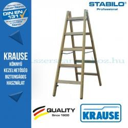 Krause Stabilo Professional két oldalon járható fa állólétra 2x5 fokos