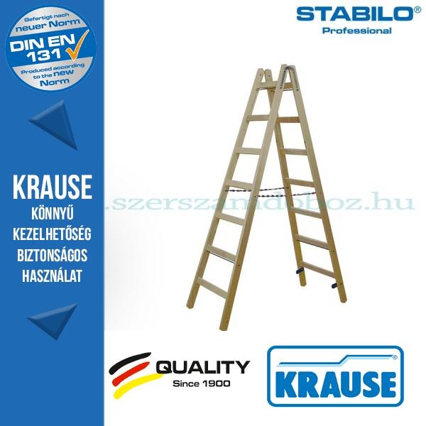 Krause Stabilo Professional két oldalon járható fa állólétra 2x7 fokos