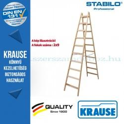 Krause Stabilo Professional két oldalon járható fa állólétra 2x9 fokos