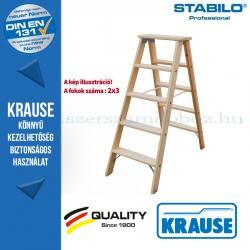 Krause Stabilo Professional lépcsőfokos két oldalon járható fa állólétra 2x3 fokos