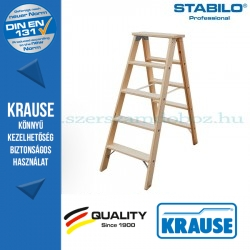 Krause Stabilo Professional lépcsőfokos két oldalon járható fa állólétra 2x5 fokos