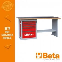 """Beta C59A """"Endurance"""" munkapad egy 6 fiókos blokkal - piros színben Ral 3000"""