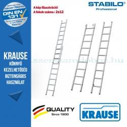 Krause Stabilo Professional létrafokos tolólétra, kétrészes 2x12 fokos