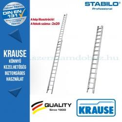 Krause Stabilo Professional létrafokos húzóköteles létra, kétrészes 2x20 fokos