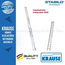 Krause Stabilo Professional létrafokos húzóköteles létra, háromrészes 3x14 fokos
