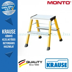 Krause Monto Rolly két oldalon járható összecsukható fellépő 2x2 fokos, sárga