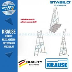 Krause Stabilo Professional létrafokos sokcélú létra 3x9 fokos