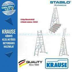 Krause Stabilo Professional létrafokos sokcélú létra 3x12 fokos