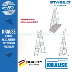 Krause Stabilo Professional létrafokos sokcélú létra 3x14 fokos
