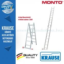Krause Monto csuklós állólétra TriMatic 2x8 fokos