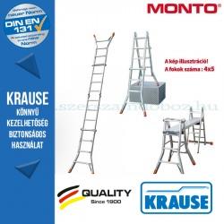 Krause Monto teleszkópos csuklós létra TeleMatic 4x5 fokos