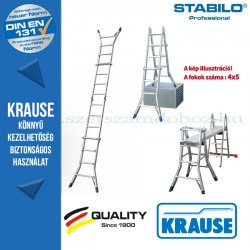 Krause Stabilo Professional teleszkópos csuklós létra 4x5 fokos