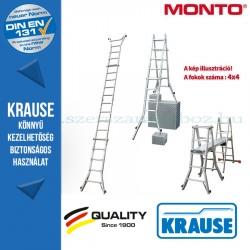 Krause Monto teleszkópos csuklós létra 4 szárhosszabbítóval TeleVario 4x4 fokos