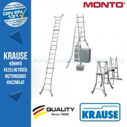 Krause Monto teleszkópos csuklós létra 4 szárhosszabbítóval TeleVario 4x5 fokos