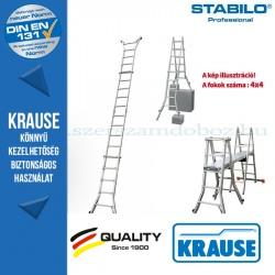 Krause Stabilo Professional teleszkópos csuklós létra 4 szárhosszabbítóval 4x4 fokos