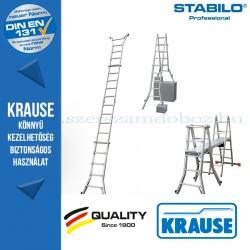 Krause Stabilo Professional teleszkópos csuklós létra 4 szárhosszabbítóval 4x5 fokos