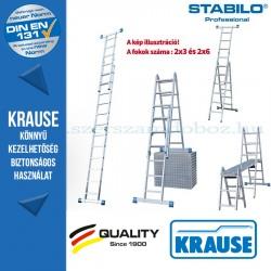 Krause Stabilo Professional kombinált csuklós létra 2x3 és 2x6 fokos