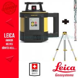 Leica Rugby 820 forgólézer (elemes) + GST103 állvány + CLR101 mérőléc