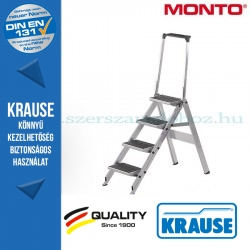 Krause összecsukható lépcső kapaszkodókerettel 4 fokos