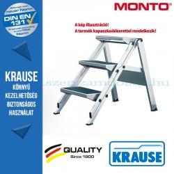 Krause összecsukható lépcső kapaszkodókerettel 3 fokos