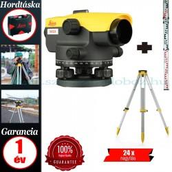 Leica NA324 Optikai szintező + GST103 állvány + CLR101 mérőléc