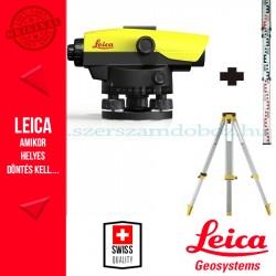 Leica NA532 Optikai szintező + GST103 állvány + CLR101 mérőléc