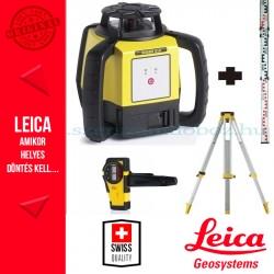 Leica Rugby 610 forgólézer + GST103 állvány + CLR101 mérőléc