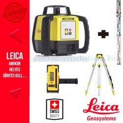Leica Rugby 620 forgólézer + CTP104 állvány + CLR101 mérőléc