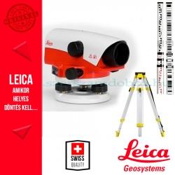 Leica NA720 optikai szintezőműszer csomag (szintezőléc+állvány)