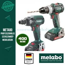 Metabo BS 18 LT BL Akkus fúró-csavarbehajtó + SSW 18 LTX 400 BL Akkus ütve-csavarbehajtó