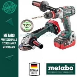 Metabo BS 18 LTX BL Q I Akkus fúró-csavarbehajtó + WB 18 LTX BL 125 Quick Akkus sarokcsiszoló