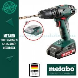 Metabo SB 18 Akkus ütvefúró-csavarbehajtó + PA 14,4-18 LED-USB adapter