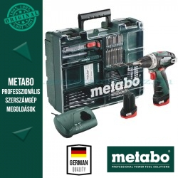 Metabo PowerMaxx BS Basic Fúró-csavarbehajtó + 64 részes tartozékkészlet