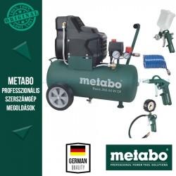 Metabo Basic 250-24 W OF Kompresszor + LPZ 4 sűrítettlevegős szerszámkészlet
