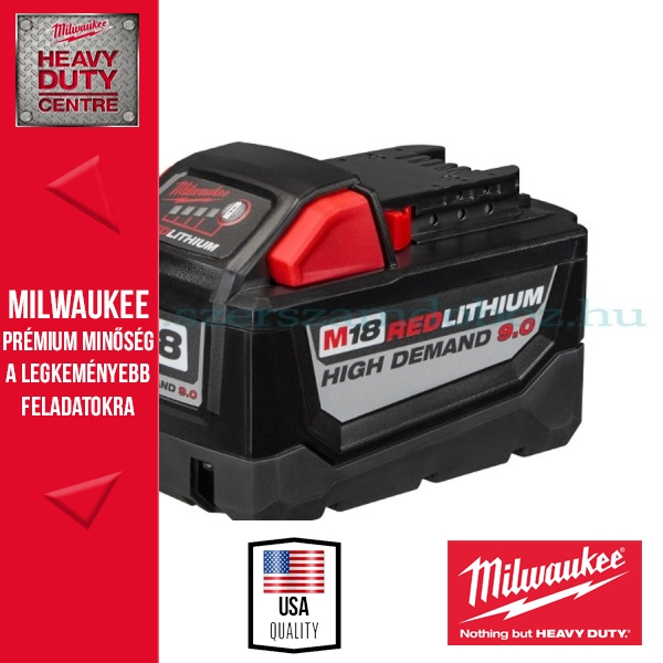 Milwaukee M18 B9 REDLITHIUM ION akkumulátor 18V - 9,0Ah