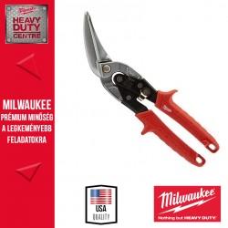 Milwaukee Extra hosszú kis sugarú lemezvágó olló - balos