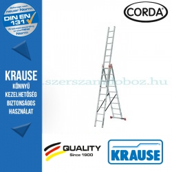 Krause CORDA Alumínium sokcélú létra 3x9 fokos