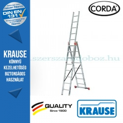 Krause CORDA Alumínium lépcsőfokos sokcélú létra 3x8 fokos