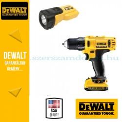 DeWalt Fúró-csavarbehajtó + Lámpa DCD710S3FZ-QW
