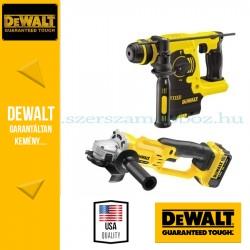 DeWalt Sarokcsiszoló + Fúrókalapács DCK271M2-QW