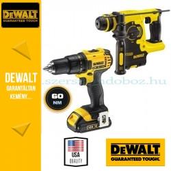 DeWalt Fúró-csavarbehajtó + Fúrókalapács DCK287M2-QW