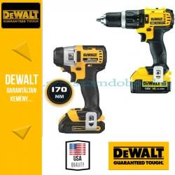 DeWalt 2x Csavarbehajtó + Sarokcsiszoló DCK381M2-QW