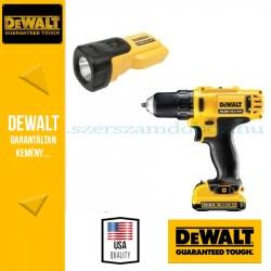 DeWalt Fúró-csavarbehajtó + Lámpa DCK710S2FZT-QW