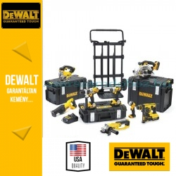 DeWalt Akkus gépcsomag + szállítókocsi DCK891M4-QW