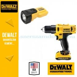 DeWalt Fúró-csavarbehajtó + Lámpa DCK710D2FT-QW