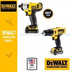 DeWalt Fúró-csavarozó + Ütve-csavarozó DCK211D2T-QW